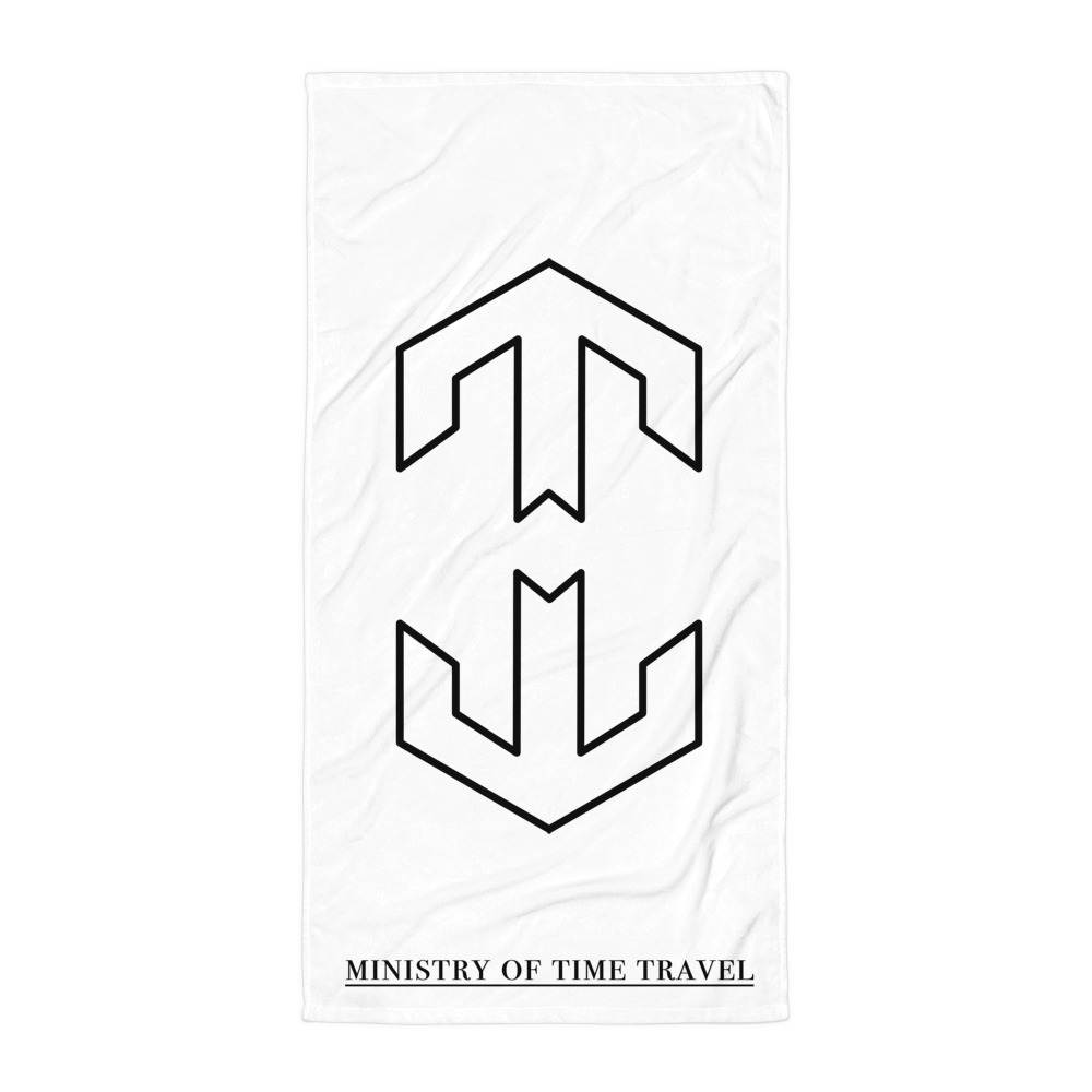 Ministry of Time Travel Beach Towel