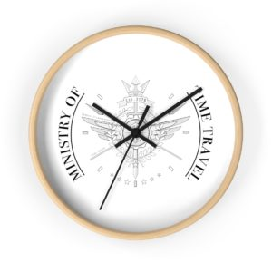 Ministry of Time Travel Wall Clock